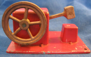 engine cast metal power drop hammer old us toy