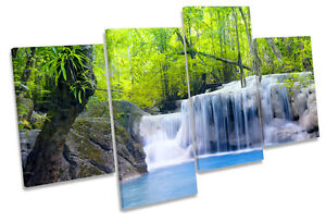 Forest Landscape Tropical Sunset MULTI CANVAS WALL ART Boxed Framed