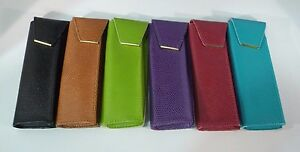 New Durable Stitched Soft Leather Case for Readers Eyeglasses Magnetic Closure