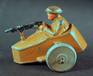 ww1 era barclay or vehicle with lead soldier with