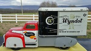 wyndot package delivery truck tin pressed steel