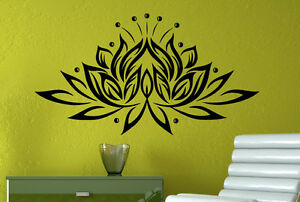 Lotus Flower Vinyl Decal Yoga Wall Sticker Lily Atr Murals Home Wall Decor 8lts