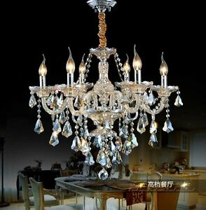 Modern Gorgeous K9 Crystal Chandeliers Palace Lighting Fixtures Lamps #Z002