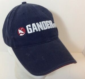Gander MTN Navy Embroidery Strapback Out Doors Hat Cap Hunting Fishing Hiking