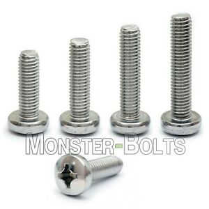 #8-32 - Phillips Pan Head Machine Screws, 18-8 A2 Stainless Steel SAE Coarse US