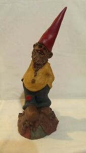tom clark sculptured gnome man with red
