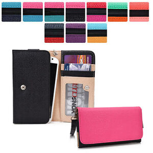Protective Wallet Case Clutch Cover & Organizer for Smart Phones KroO ESMT31