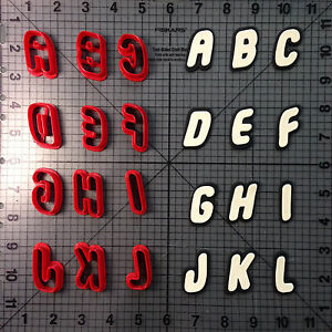 Toy Font Cookie Cutter Set
