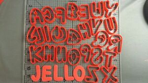 Jello Font Uppercase Cookie Cutter Set