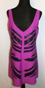 SANCTUARY Designer EVENING DRESS SZ M Fusia Black Sequin GORGEOUS New $129 FBB