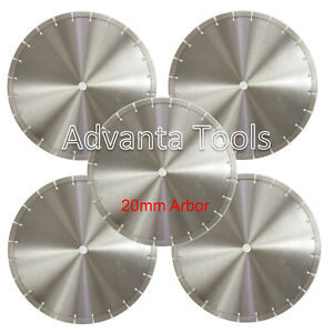 5PK 14 Diamond Blades for Brick Block Concrete Masonry Pavers Stone 20MM Arbor
