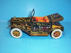 vintage line mar japan tin friction jalopy