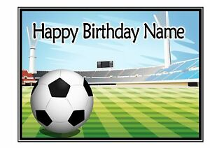 ND2 Football birthday personalised A4 cake topper icing sheet