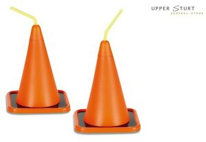 Construction Cone Cups 8 Pack Drinking Cup Party Supplies