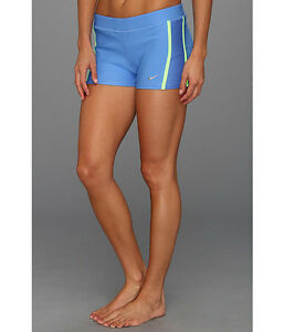 Nike tempo boy women's short Distance dry fit blue lime matte silver XL NWT