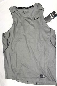 Mens Nike Pro Fitted Gamme HyperCool Fit Dry Base Layer Tank Top Shirt 801248 XL