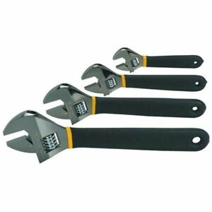 12quot; 10quot; 8quot; 6quot; inch Heat Treated Laser Marked Metric Adjustable Wrench Set