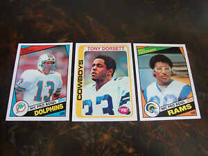 2010 Topps Football Anniversary Reprints Lot Of 3 Multi Lots See List $7.00