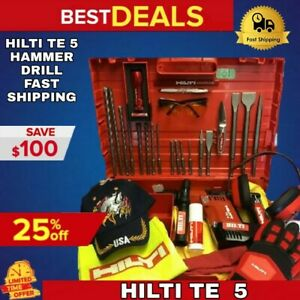 HILTI TE 5 HAMMER DRILL LK FREE EXTRAS LOADED BITS GREAT FAST SHIPPING