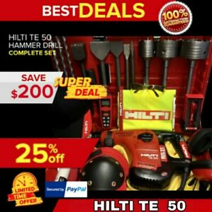 HILTI TE 50 EXCELLENT CONDITION LOAD FREE EXTRAS DURABLE FAST SHIPPING