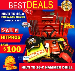 HILTI TE 16-C LK COMPLETE LOADED W FREE EXTRAS GERMANY FAST SHIPPING