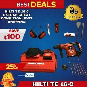 HILTI TE 16-C PREOWNED LK LOADED W EXTRAS GREAT CONDITION FAST SHIPPING