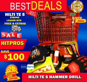 HILTI TE 5 HAMMER DRILL LK FREE EXTRAS LOADED BITS STRONG FAST SHIPPING
