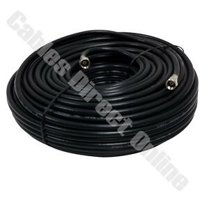 25FT BLACK Extension Coax Coaxial Satellite Dish Cable TV Antenna Wire Cord