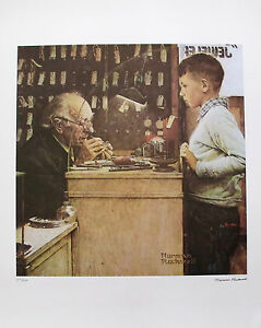 NORMAN ROCKWELL quot;THE WATCHMAKERquot; 1978 Signed Limited Edition Lithograph Art $129.99