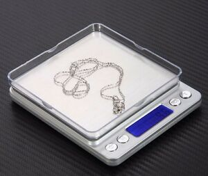 Digital Scale 2000g x 0.1g Jewelry Gold Silver Coin Gram Pocket Size Herb Grain $9.98
