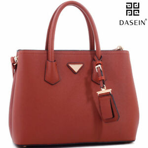 Clearance Dasein Women Handbags Faux Leather Satchel Tote Shoulder Bag Day Purse