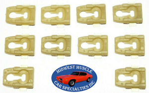 NOS Ford F100 F150 F250 Truck Body Cab Bed Side Belt Molding Trim Clips 10pcs OR