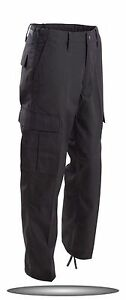 BLACK MENS LIGHT WEIGHT BDU PANTS ARMY MILITARY STYLE CARGO SWATS  SIZES S TO 3X