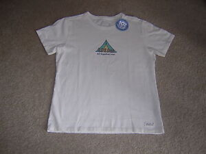 Life is good Women#x27;s Crusher All Together Tent Tee Simply Ivory Medium