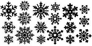 Snowflakes Vinyl Decal