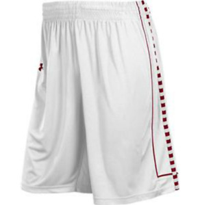 NEW UNDER ARMOUR Stock Prodigy Basketball Shorts men white red $14.99