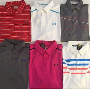 Men's Under Armour UA Golf Cold Black Loose Fit Polos Shirts