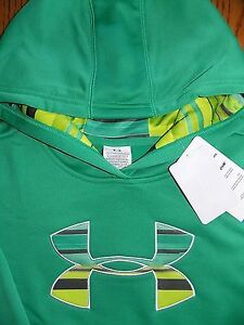 NWT Under Armour Cold Gear Big Logo Sweatshirt Hoodie Girls Youth Large POPULAR!