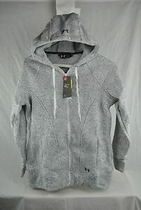 UNDER ARMOUR WINTERSWEET FULL ZIP HOODIE WOMENS CHARCOAL NEW AUTHENTIC