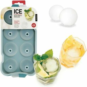 ICE BALL MOULD - Silicon Tray Makes 8 Ice Balls 4.5cm Drink Party **FREE DELIVER