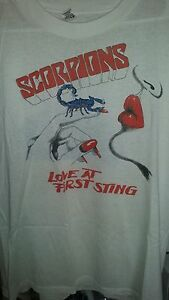 SCORPIONS 1984 Love at First Sting vintage licensed concert tour muscle shirt LG