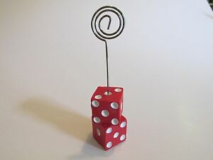 12 DICE PLACE CARD HOLDERS casino night game night NAME CARDS guest table