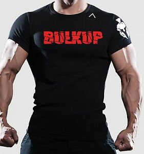 Men bulk up SPARTAN bodybuilding fit t shirt WORKOUT training GYM dri fit