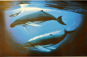 WYLAND LITHOGRAPH A SEA OF LIFE SIGNED #713 750 W COA BEAUTIFUL WHALES $167.96