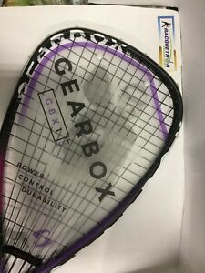 GEARBOX GBX1 165T PURPLE 2017 RACQUETBALL RACQUET  & FREE DRY FIT SHIRT Small