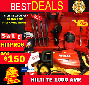 HILTI TE 1000 AVR, BRAND NEW, MADE IN GERMANY, FREE ANGLE GRINDER, FAST SHIP