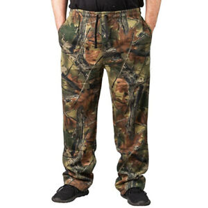 MEN#x27;S CAMO 3 POCKET SWEATPANTS HUNTING HIKING CAMPING ACTIVE SPORT CAMOUFLAGE