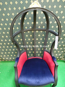 Designer Hooded Canopy Baloon Chair  Artistic showhouse piece mahogany wood