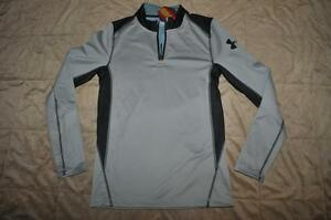 Under Armour Coldgear Infrared Grid 12 Zip Mock 1260605 035 Mens Size Small NWT