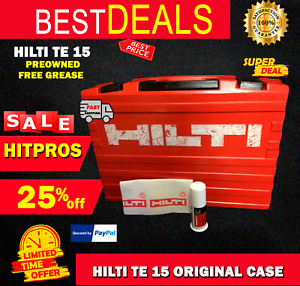 HILTI TE 15 CASE ONLY ORIGINAL, PREOWNED ,FREE HILTI GREASE, FAST SHIP
